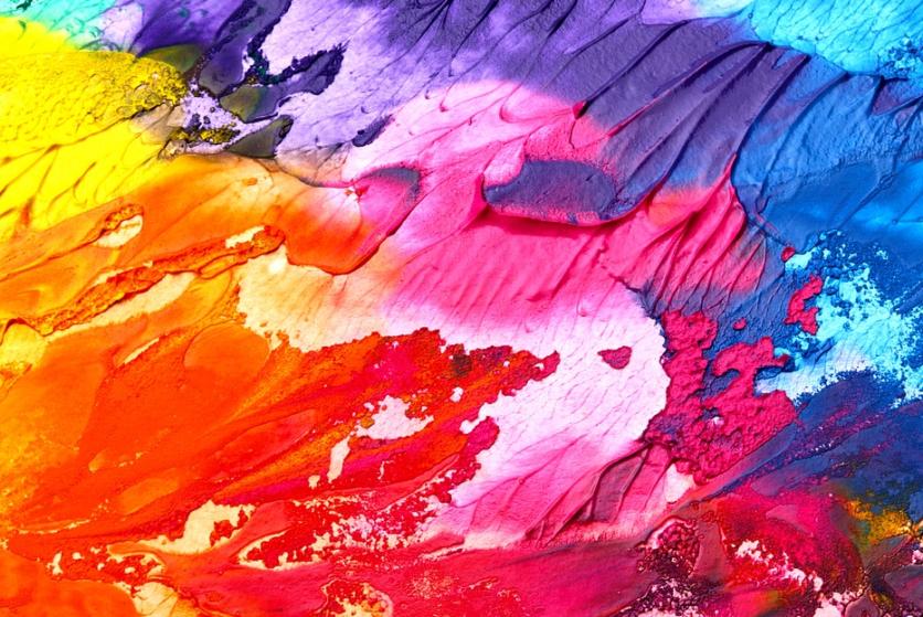 abstrakter Acryl-Kunstdruck