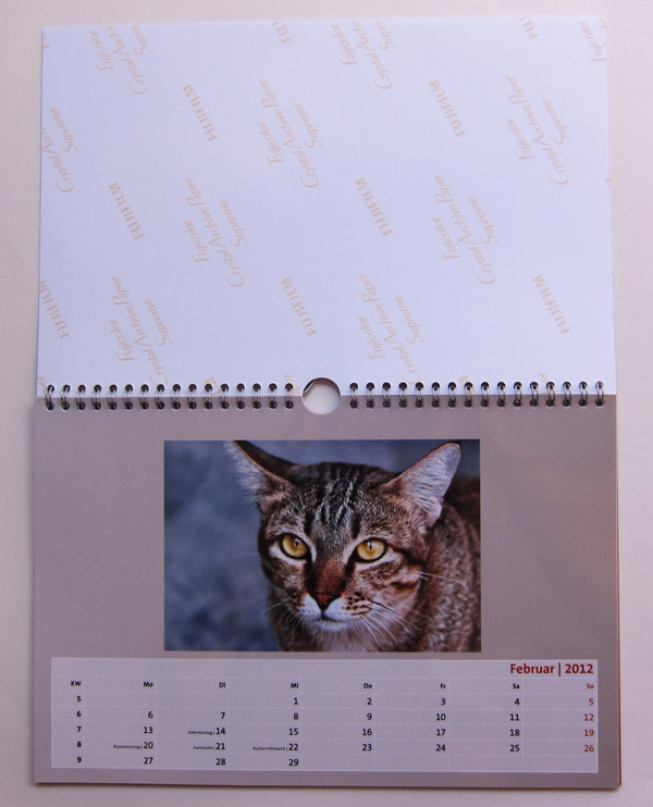 Der Fotokalender in A4 Querformat auf Premium Fotopapier von Artido