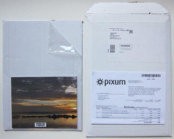 Die Lieferung von Pixum
