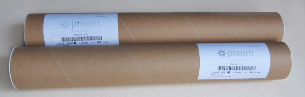 In diesen zwei Kartonrollen befanden sich unsere zwei Poster.
